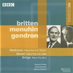 Beethoven / Britton / Gendron / Menuhin / Mozart - Beethoven, Mozart, Bridge: Piano Trios CD Cover Art