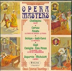 Opera Masters - Opera Masters - Classic Historical Recordings Vol 1 CD Cover Art