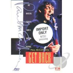McCartney, Paul - Get Back Live In Concert DVD Cover Art