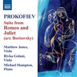 Golani / Hampton / Jones / Prokofiev - Prokofiev: Suite from Romeo and Juliet (arr. Borisovsky) CD Cover Art