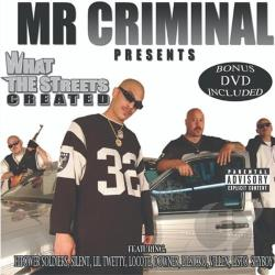 MR Criminal - What the Streets Created CD Cover Art