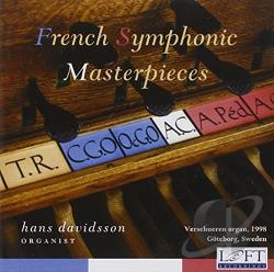 Davidsson, Hans - French Symphonic Masterpieces CD Cover Art