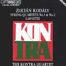 Kodaly / Kontra Quartet - Zolt�n Kod�ly: String Quartets Nos. 1 & 2; Gavotte CD Cover Art