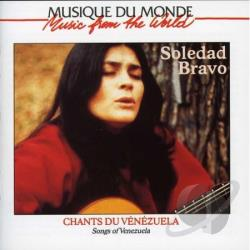 Bravo, Soledad - Songs Of Venezuela CD Cover Art