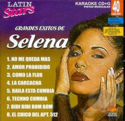 Selena - Karaoke Latin Stars CD Cover Art