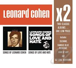 Cohen, Leonard - Songs of Love and Hate/Songs of Leonard Cohen CD Cover Art