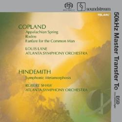 Copeland / Hindemith - Copland: Appalachian Spring; Rodeo; Fanfare For The Common Man; Hindemith: Symphonic Metamorphosis SA Cover Art