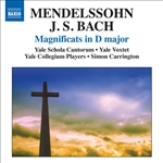 Mealy / Mendelssohn / Yale Schola Cantorum - Mendelssohn, Bach: Magnificats in D major CD Cover Art