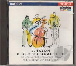 Haydn, J. - Repertoire - Haydn: 3 String Quartets / Philharmonia Quartet CD Cover Art