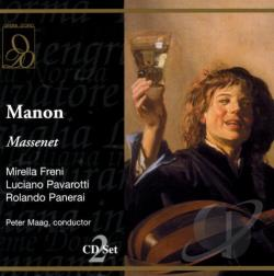Freni / Maag: cn / Pavarotti - Massenet: Manon CD Cover Art