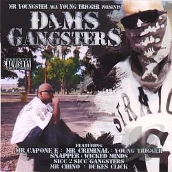 Mr Capone E, Mr Youngster, Mr Criminal , Snapper, Wicked Minds / Various Artists - D4ms Gangsters CD Cover Art