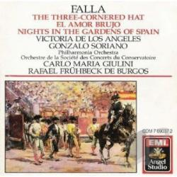Philharmonia - Falla: 3 Cornered Hat, El Amor Brujo / Giulini, Soriano CD Cover Art