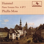 Moss, Phyllis - Hummel, J.N.: Piano Sonatas Nos. 4 And 5 DB Cover Art