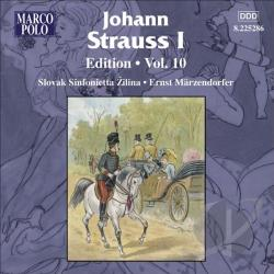 Marzendorfer / Strauss, J. I - Johann Strauss I: Edition, Vol. 10 CD Cover Art