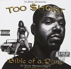 Too $Hort - Bible Of A Pimp: 25 Year Anniversary CD Cover Art