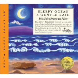 Thompson, Jeffrey D., Dr. - Sleepy Ocean & Rain - With Delta Brainwave Pulses CD Cover Art