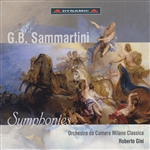 Gini / Orchestra Da Camera Milano / Sammartini - Sammartini: Symphonies CD Cover Art