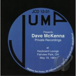 McKenna, Dave - Private Recordings: At Keyboard Lounge Fairview Park Oh May 19, 1981 CD Cover Art