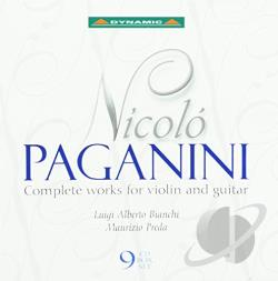 Bianchi / Paganini / Preda - Nicolo Paganini: Complete Works for Violin and Guitar CD Cover Art