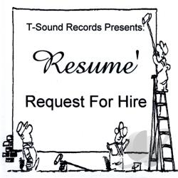 Resume' - Request for Hire CD Cover Art