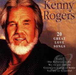 Rogers, Kenny - 20 Great Love Songs CD Cover Art