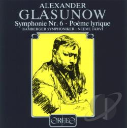 Bamberg So / Glazunov / Jarvi - Symphony No. 6 / Poeme Lyrique CD Cover Art