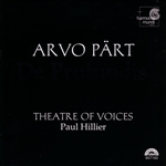 Hillier / Part / Theatre Of Voices - Arvo P�rt: De Profundis CD Cover Art