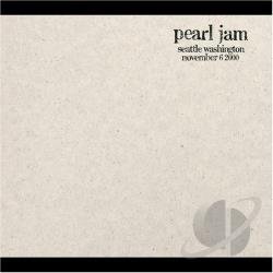 Pearl Jam - 11/6/00: Seattle, Washington CD Cover Art
