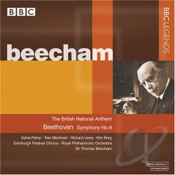 Beecham / Beethoven / Fisher / Merriman / Rpo - Beethoven: Symphony No. 9 CD Cover Art