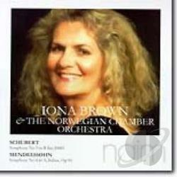 Brown, Iona: cnd / Norwegian CO - Schubert: Symphony No. 5; Mendelssohn: Symphony No. 4 Italian CD Cover Art