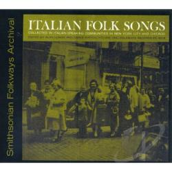 Italian Folk Songs CD Cover Art