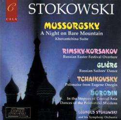 Leopold Stokowski & His Orchestra / Mussorgsky - Mussorgsky: A Night on Bare Mountain; Rimsky-Korsakov: Russian Easter Festival Overture; etc. CD Cover Art