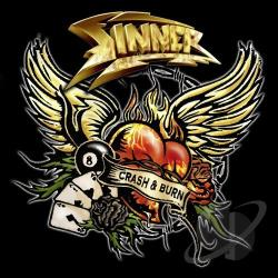 Sinner - Crash and Burn CD Cover Art