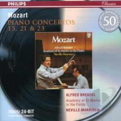 Acmf / Brendel / Marriner / Mozart - Mozart: Piano Concertos 15, 21 & 23 CD Cover Art