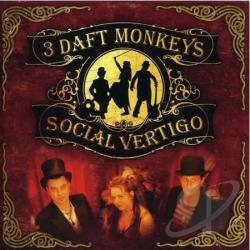 3 Daft Monkeys - Social Vertigo CD Cover Art