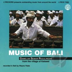 Music of Bali CD Cover Art