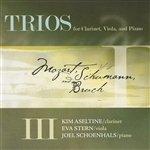 Aseltine / Bruch / Mozart / Schumann / Stern - Trios for Clarinet, Viola, and Piano CD Cover Art