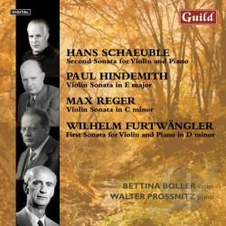 Boller, Bettina - Schaeuble, Hindemith, Reger, Furtwangler: Violin Sonatas CD Cover Art