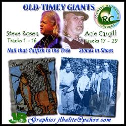 Acie Cargill, Steve Rosen - Old-Timey Giants CD Cover Art