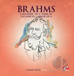 Brahms - Variations On A Theme By Paganini CD Cover Art
