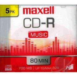 CDR80 Music Gold 5PK Slim Case Cover Art