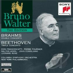 Walter, Bruno - Bruno Walter Edition - Brahms: Double Concerto;  Beethoven CD Cover Art