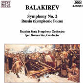 Balakirev - Symphony No. 1 / Islamey CD Cover Art