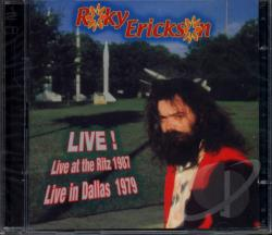 Erickson, Roky - Live CD Cover Art