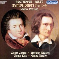 Beethoven / Csalog / Kiraly / Kiss - Symphonies Nos 1-9 CD Cover Art