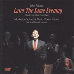 Musto, John - John Musto: Later the Same Evening CD Cover Art