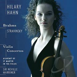 Amf / Brahms / Hahn, Hilary / Marriner / Stravinsky - Brahms, Stravinsky: Violin Concertos CD Cover Art