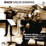 Bach / Egarr, Richard / Linden / Manze, Andrew - Bach: Violin Sonatas CD Cover Art