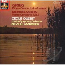 Marriner / Ousset - Grieg:Piano Cto. CD Cover Art