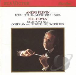 Previn / Rpo - Beethoven: Symphony no 7, Coriolan, Prometheus / Previn CD Cover Art